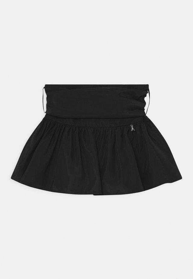 GONNA TAFFETAS - Mini skirt - black