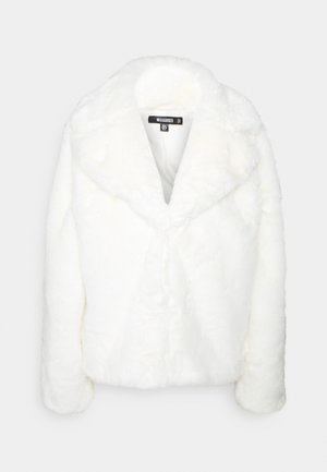 SHORT COLLAR COAT - Winter jacket - white