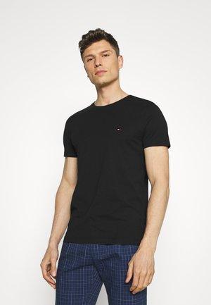 BACK LOGO TEE - T-shirt - bas - black