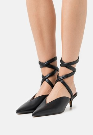 FIONA MID POINT ANKLE WRAP - Classic heels - black