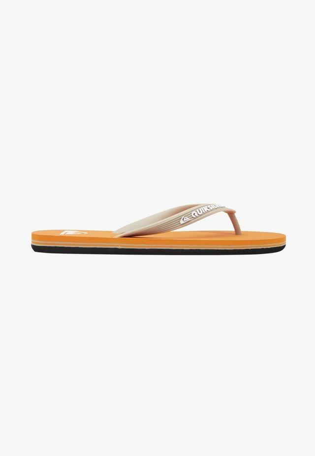 MOLOKAI - Pool shoes - orange/orange/white