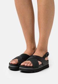Timberland - SANTA MONICA SUNRISE X BAND - Platform sandals - black - 0
