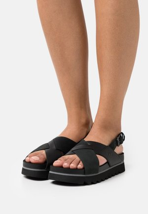 SANTA MONICA SUNRISE X BAND - Platform sandals - black