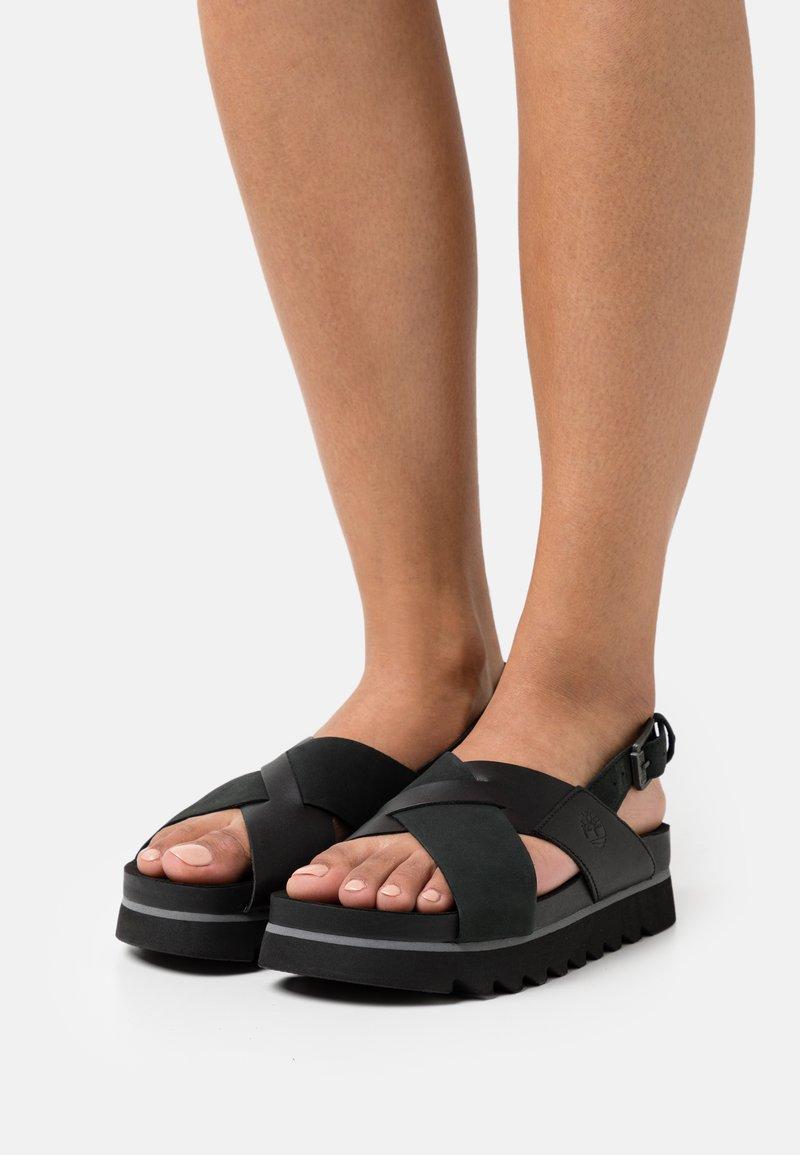 Timberland - SANTA MONICA SUNRISE X BAND - Platform sandals - black