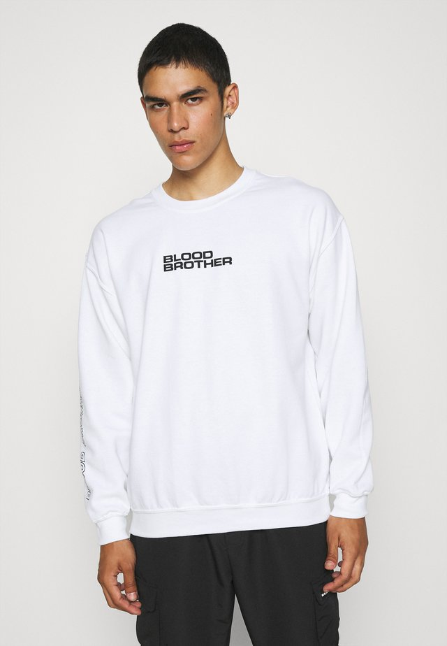 STONE FREQUENCY BRANDED LOGO UNISEX - Sweatshirt - white