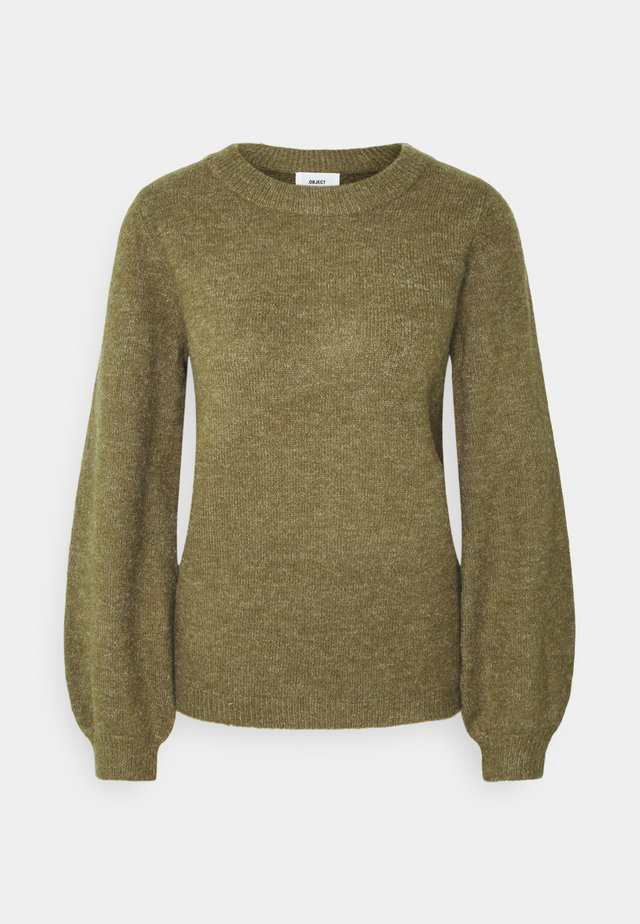 Jumper - burnt olive melange