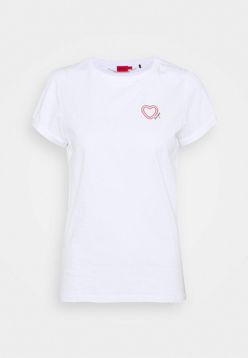 HUGO - Print T-shirt - white