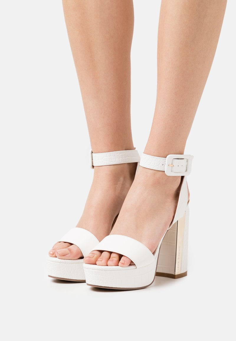 Laura Biagiotti - Sandály na platformě - white