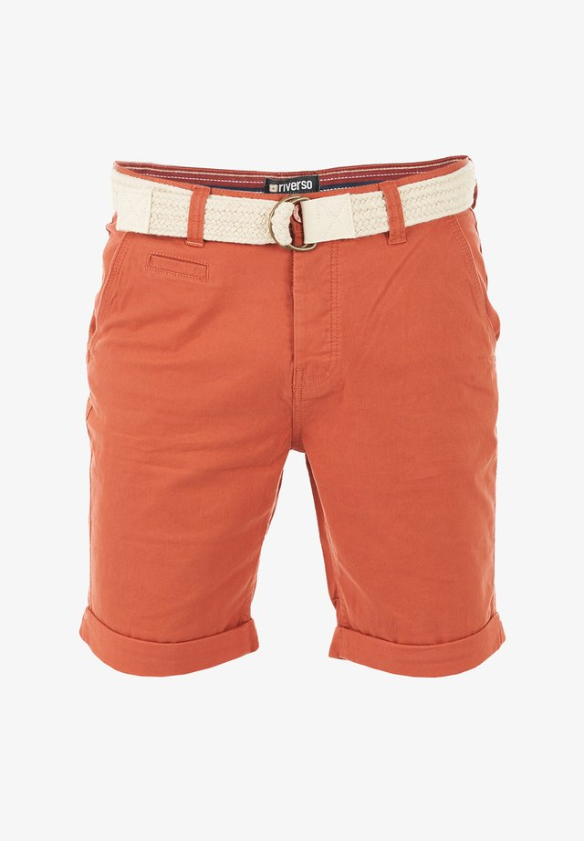 RIVHENRY - Shorts - terracotta red