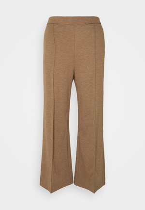WIDE LEGGED TROUSER - Trousers - brown medium dusty