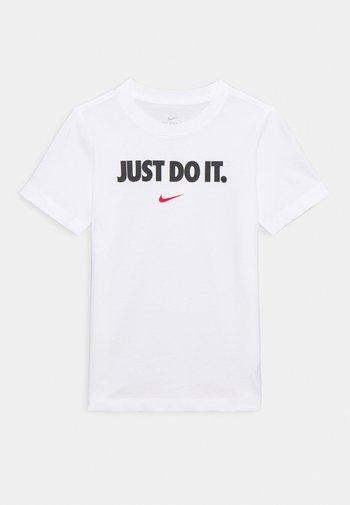 TEE UNISEX - Print T-shirt - white/university red