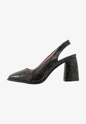 BLOCK HEEL SLING BACK SHOE - Classic heels - black