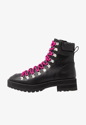 BUCK - Lace-up ankle boots - black