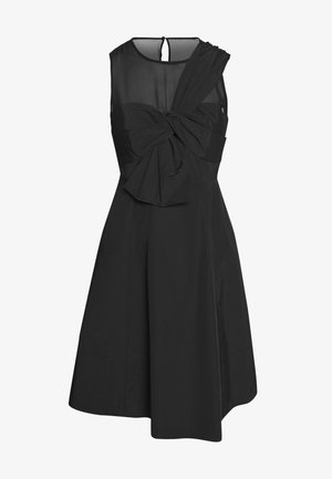 BOW FRONT FAILLE DRESS - Cocktail dress / Party dress - black
