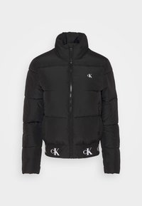 Calvin Klein Jeans - REPEATED LOGO PUFFER - Kurtka zimowa - black - 4