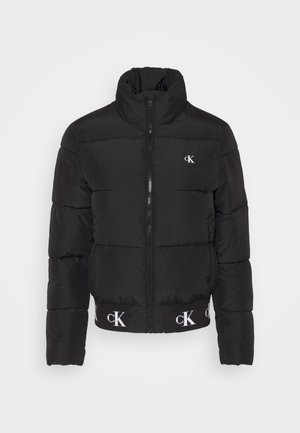 REPEATED LOGO PUFFER - Zimní bunda - black