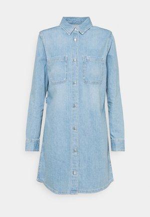 RELAXED DRESS - Denim dress - blue