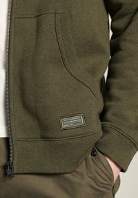 Superdry - Sweatjacke - black olive grit - 1