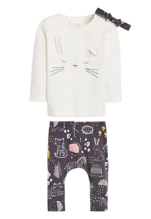PINK/GREY CHARACTER 3 PIECE SET (0MTHS-2YRS) - Leggings - Trousers - off-white