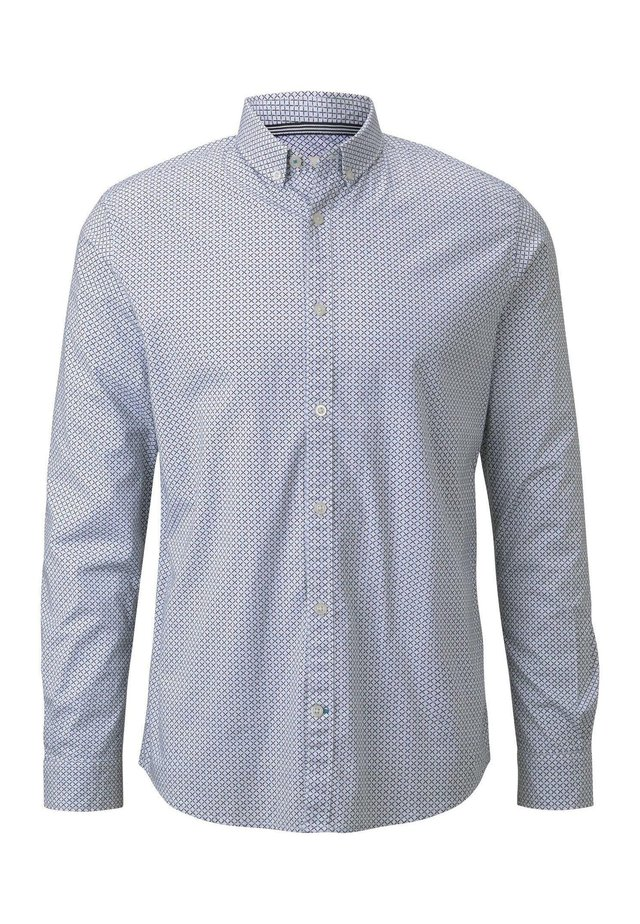 BLUSEN & SHIRTS GEMUSTERTES HEMD - Shirt - olive navy geometric design