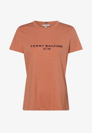 Print T-shirt - aprikot