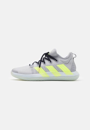 STABIL NEXT GEN PRIMEBLUE - Handball shoes - half silver/hi-res yellow/legend ink