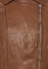 Oakwood - ALIZEE - Leather jacket - cognac - 6