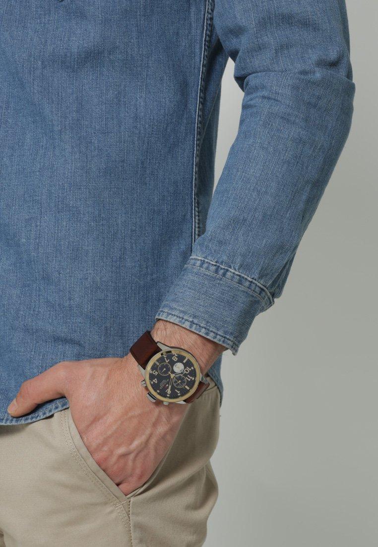 Tommy Hilfiger - TRENT - Watch - silberfarben/braun
