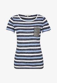 comma casual identity - MIT SCHMUCK-APPLIKATION - Print T-shirt - marine - 4