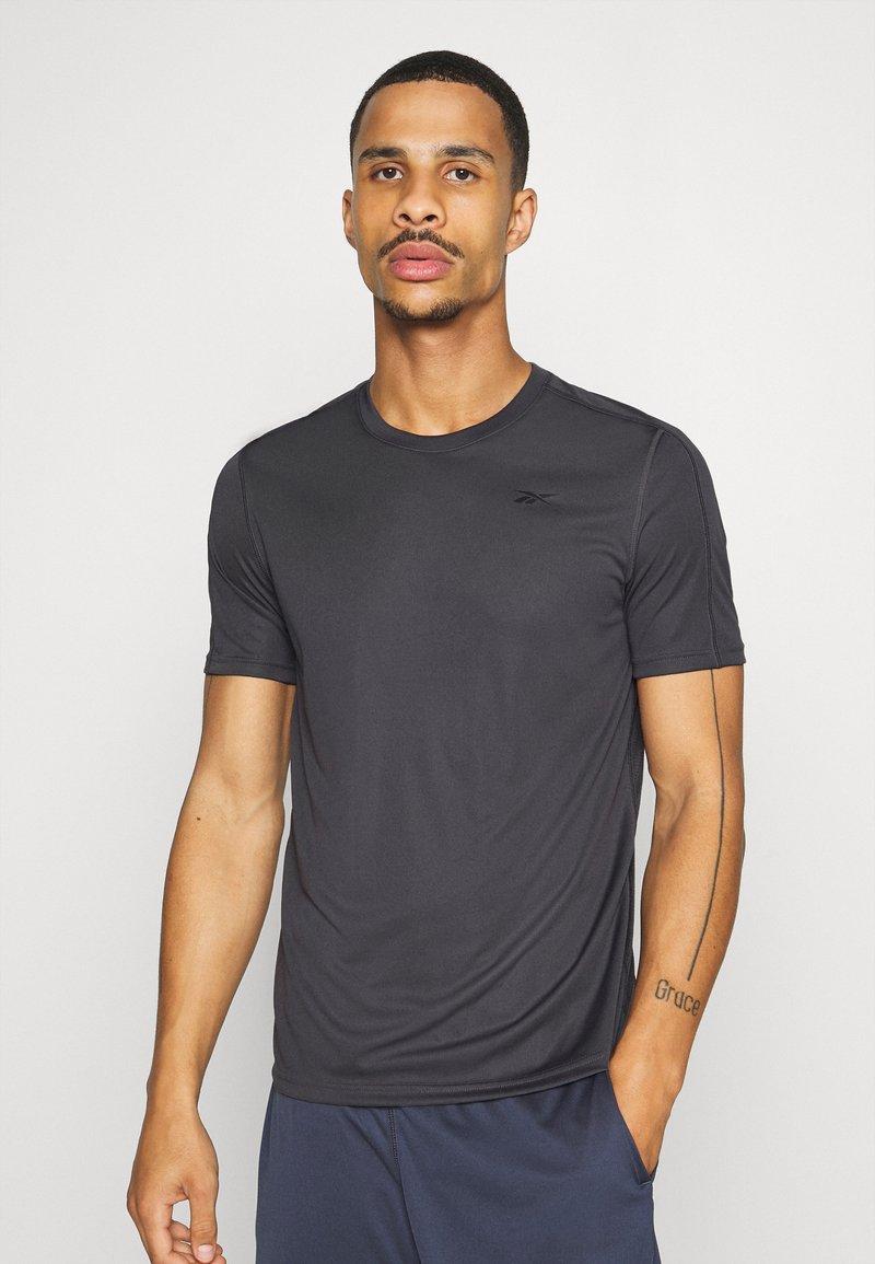 Reebok - TECH TEE - Print T-shirt - ash grey