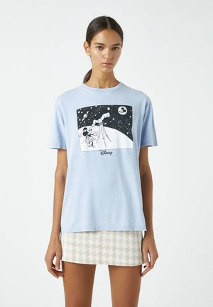 T-shirt imprimé - mottled blue