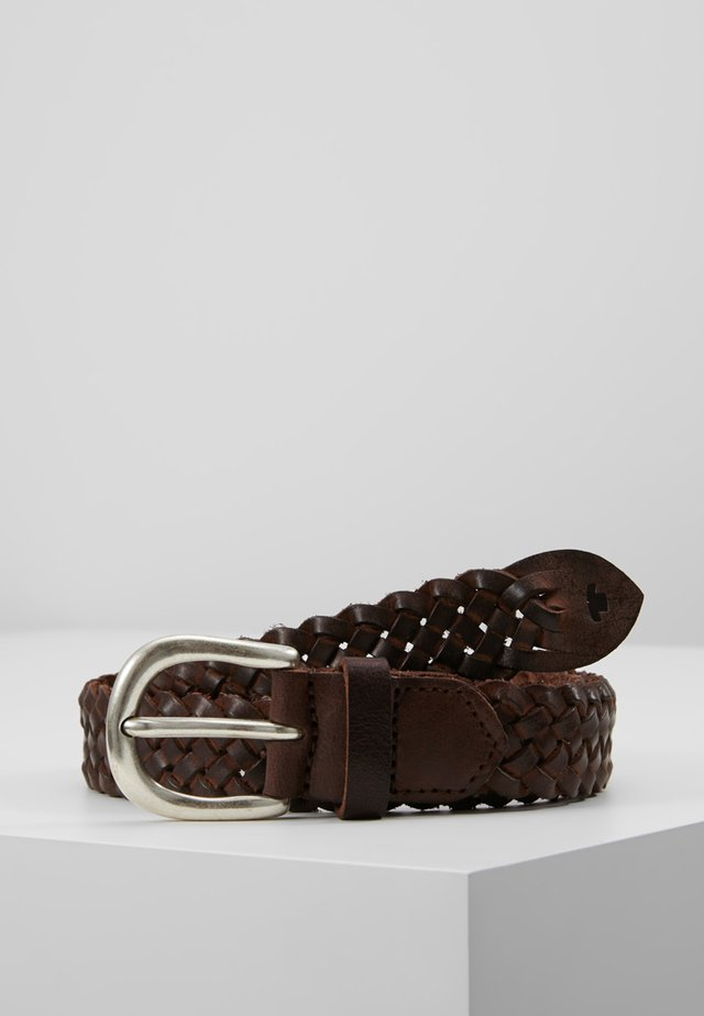 Braided belt - braun