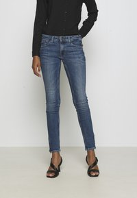 Tommy Jeans - SOPHIE ANKLE ZIP  - Jeansy Skinny Fit - jasper mid blue - 0