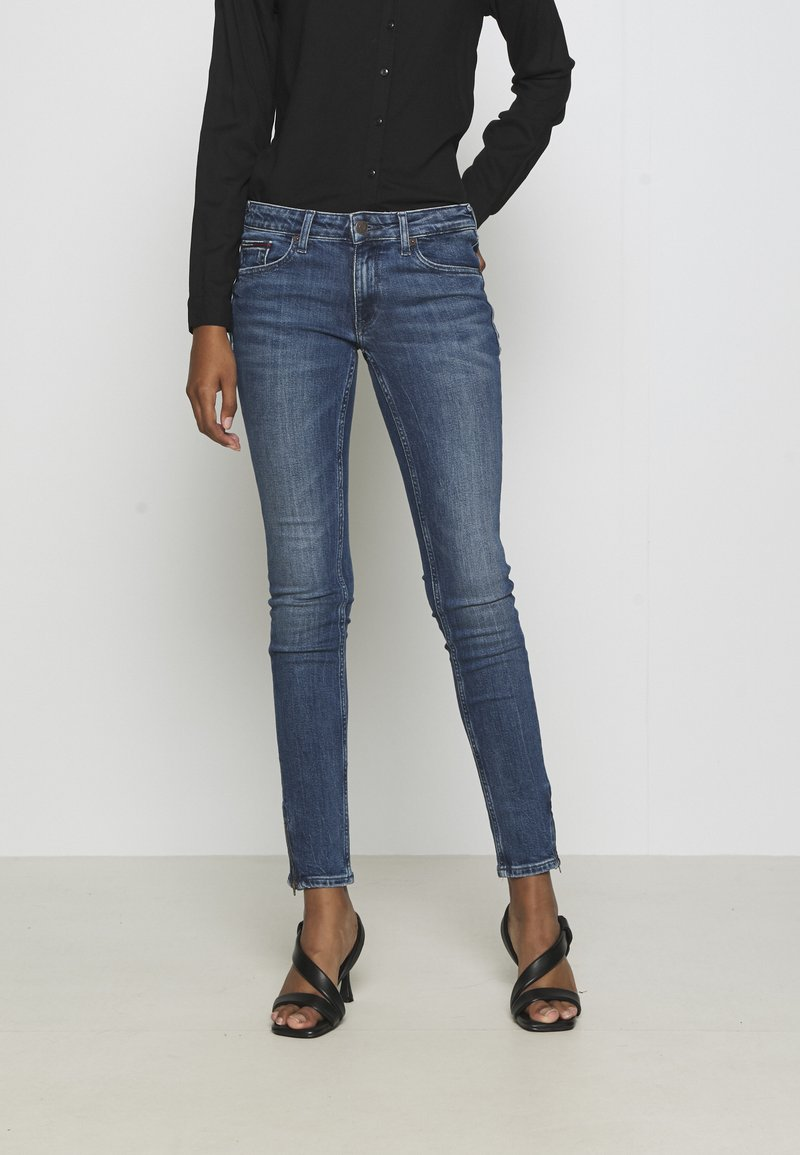 Tommy Jeans - SOPHIE ANKLE ZIP  - Jeansy Skinny Fit - jasper mid blue