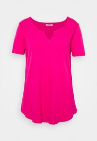 Simply Be - NOTCH FRONT TUNIC - T-shirt basique - pink - 0