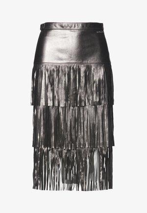 A-line skirt - gunmetal