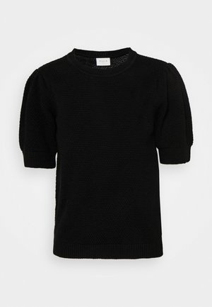 VICHASSA PUFF - Basic T-shirt - black