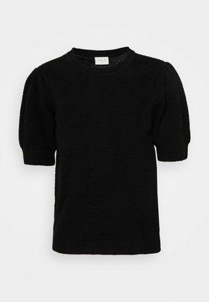 VICHASSA PUFF - Print T-shirt - black