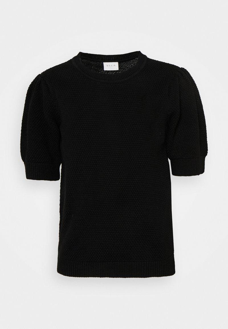 Vila - VICHASSA PUFF - Print T-shirt - black