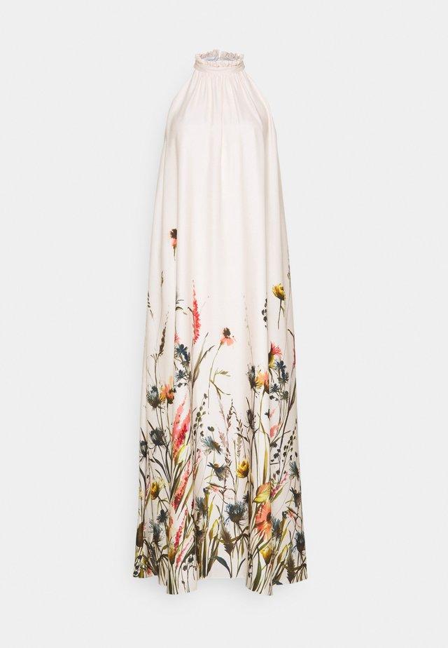 Vestito lungo - sandshell/mulicolor