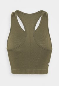 Cotton On Body - LIFESTYLE SEAMLESS HALTER TANK - Top - deep moss chevron - 1