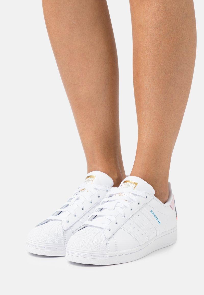adidas Originals - EGLE SUPERSTAR - Trainers - footwear white/clear pink