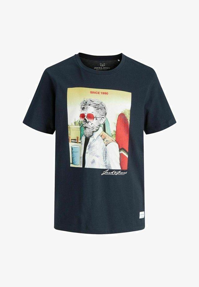 T-Shirt print - navy blazer