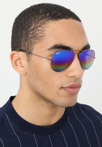 Ray-Ban - 0RB3025 AVIATOR - Solbriller - bronze-coloured/copper light grey rainbow - 1