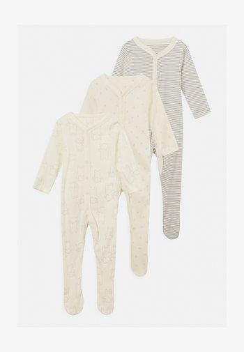 BABY ORGANIC 3 PACK UNISEX - Sleep suit - grey