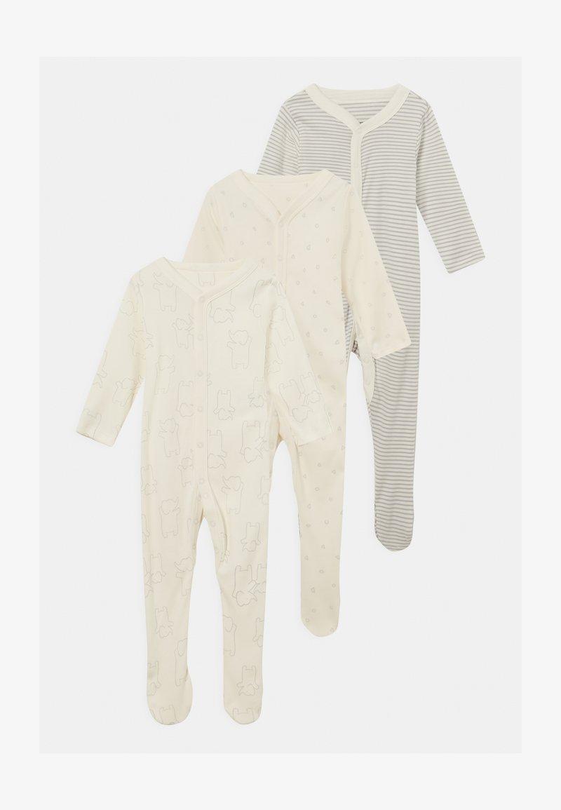 Marks & Spencer London - BABY ORGANIC 3 PACK UNISEX - Sleep suit - grey
