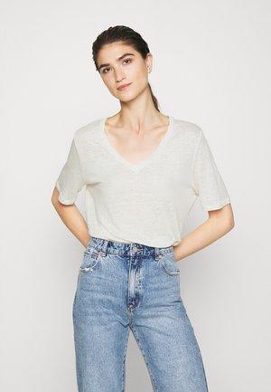SLFSTANDARD V NECK TEE - T-Shirt basic - snow white