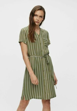 Vestido camisero - deep lichen green