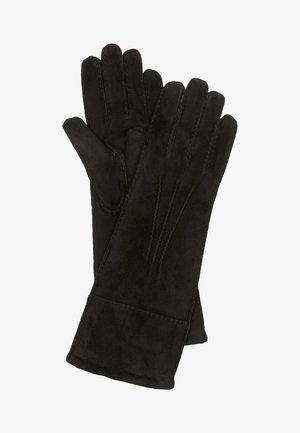 UNTERARMLANGE  AUS FEINEM ZIEGEN-VELOURSLEDER - Gloves - black