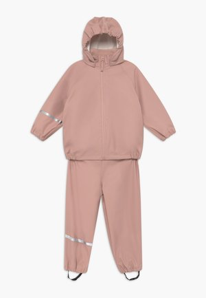 BASIC RAINWEAR SET UNISEX - Pantalones impermeables - misty rose